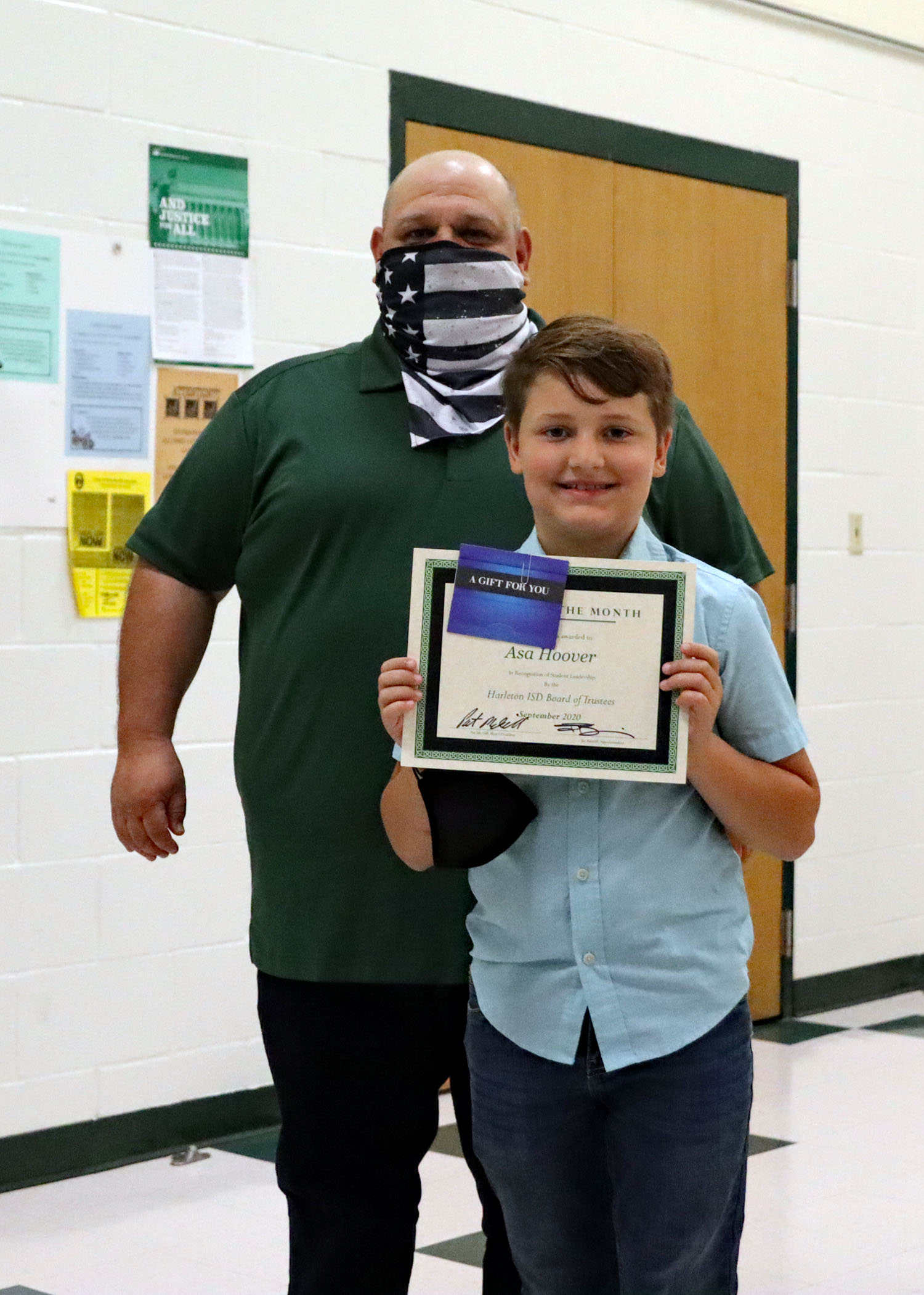 September Student of the Month Asa Hoover
