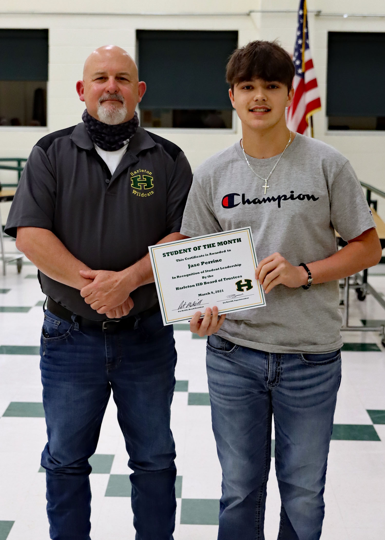 March  Student of the Month Jase Perrine!