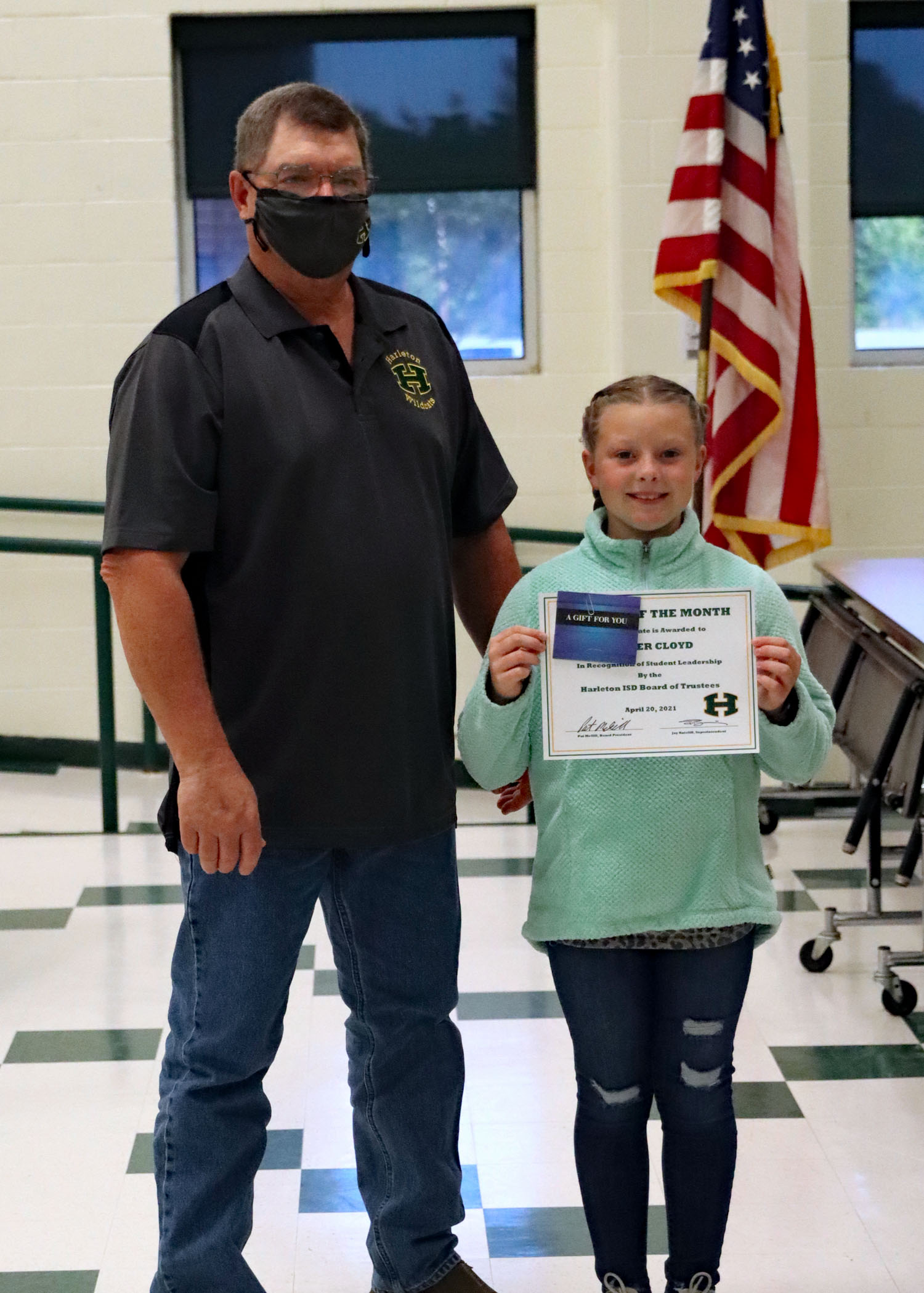 April Student of the Month Harper Cloyd!
