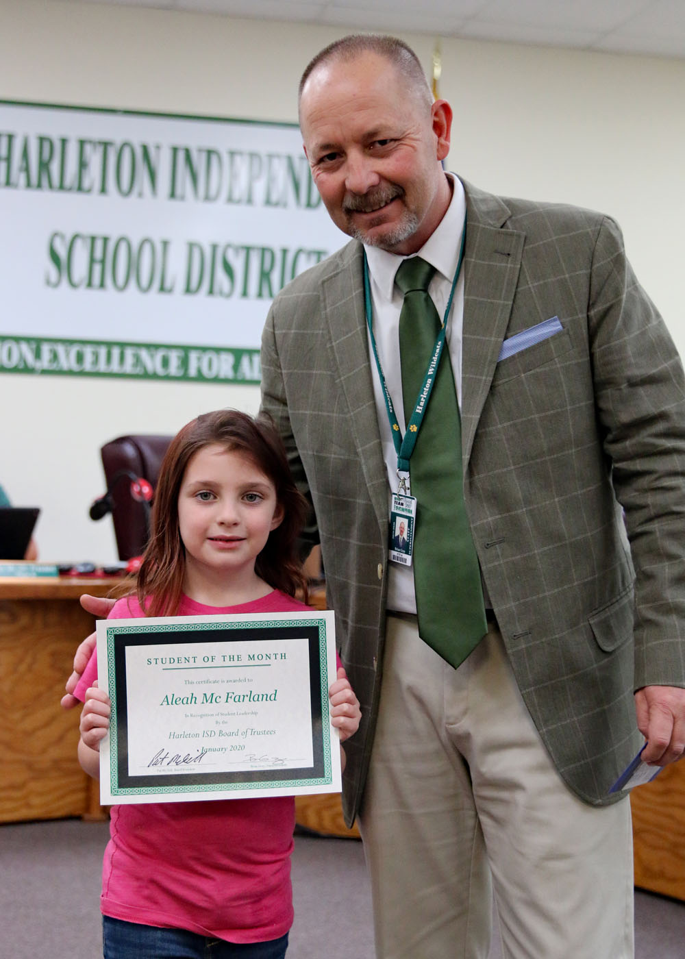 January Student of the Month Aleah McFarland