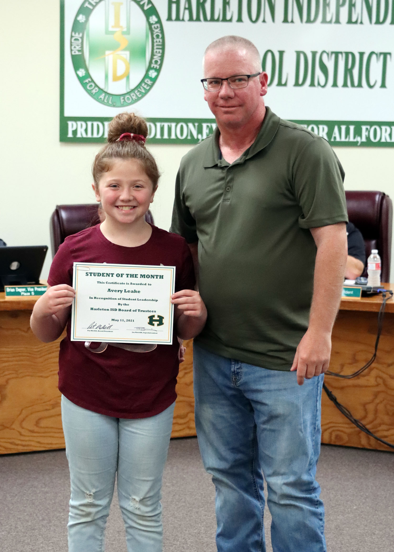 May Student of the Month Avery Leake!