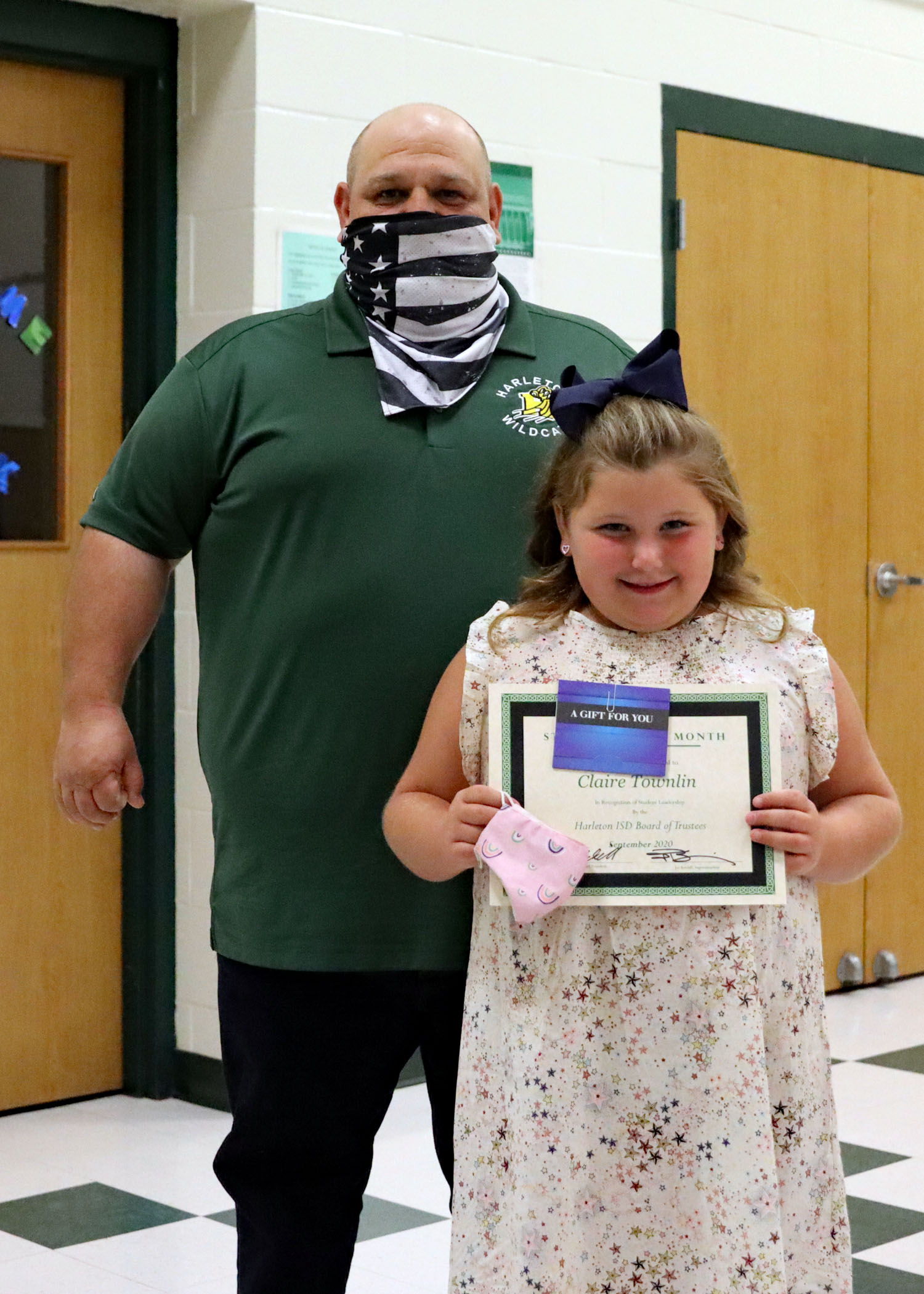 September Student of the Month Claire Townlin