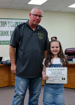 Congratulations Blakely Jordan! September Student of the Month