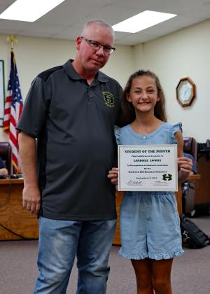Congratulations Landree Lowry! September Student of the Month