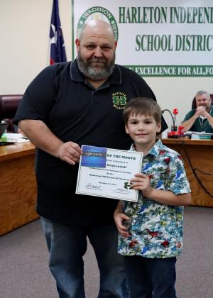 Congratulations Ethen Kuykendall! October Student of the Month