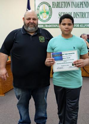 Congratulations Jonathan Clark! October Student of the Month