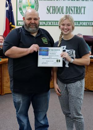 Congratulations Karlee Cochran! October Student of the Month