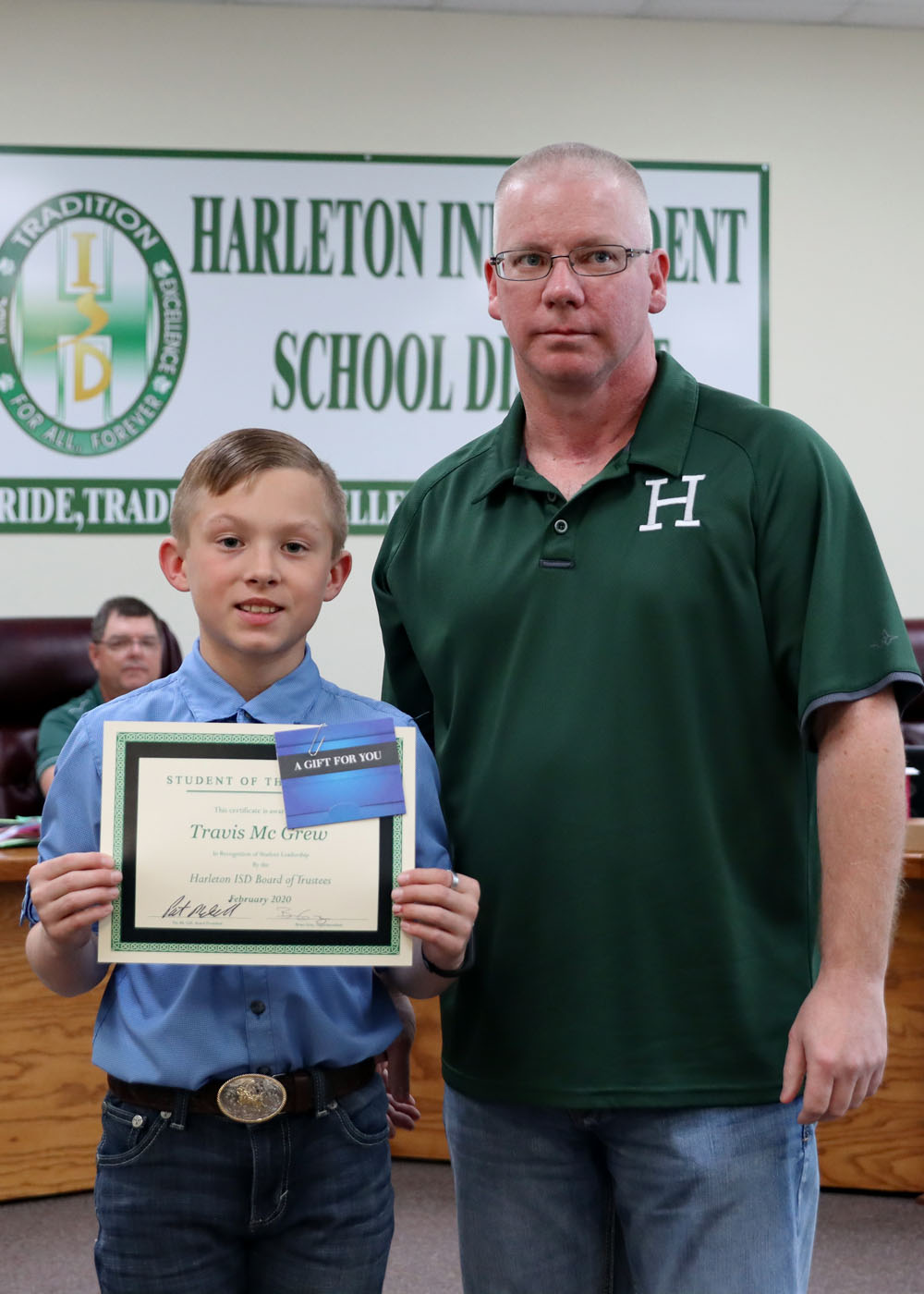 February Student of the Month Travis McGrew