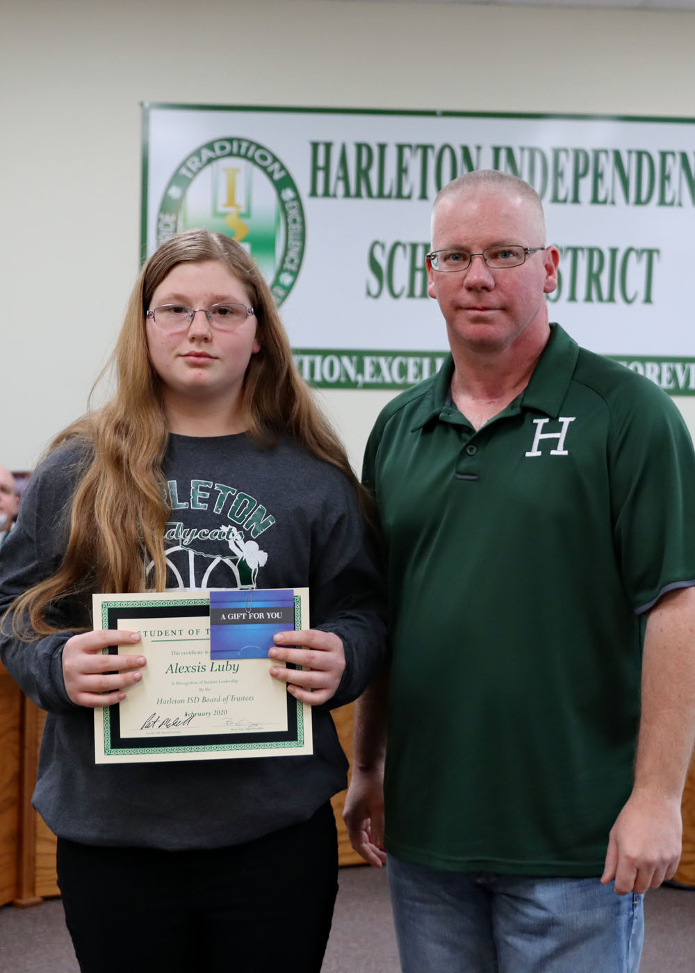 February Student of the Month Alexis Luby