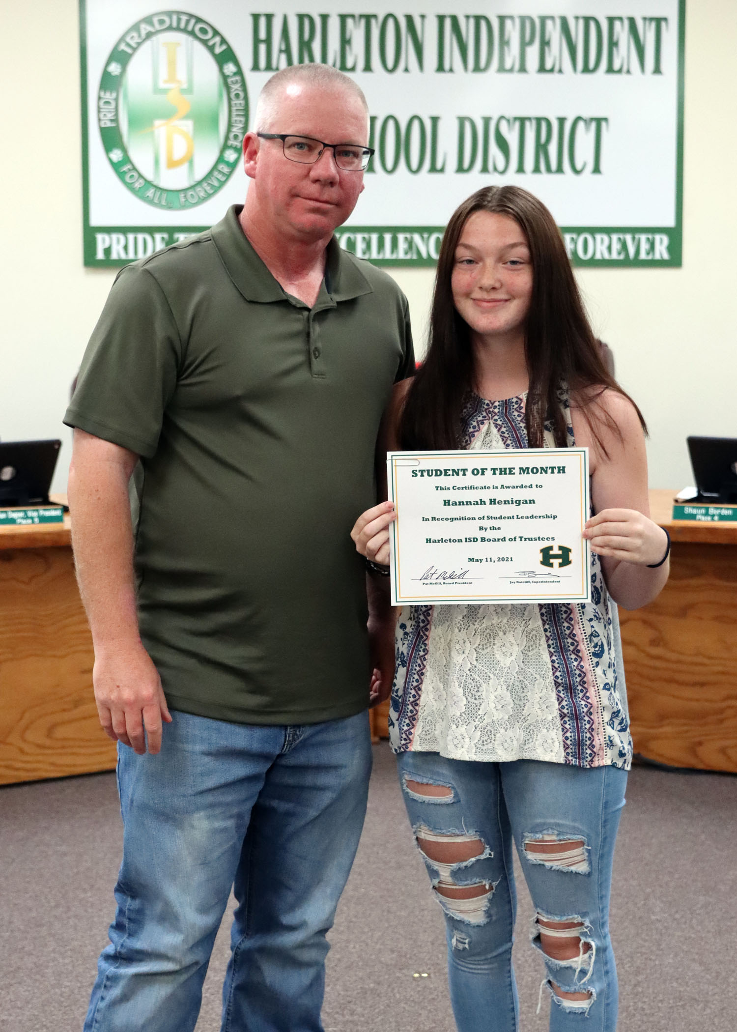 May Student of the Month Hannah Henigan!