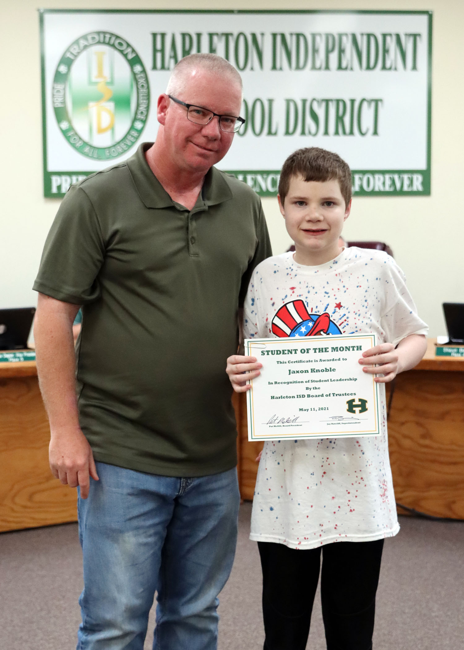 May Student of the Month Jaxon Knoble!