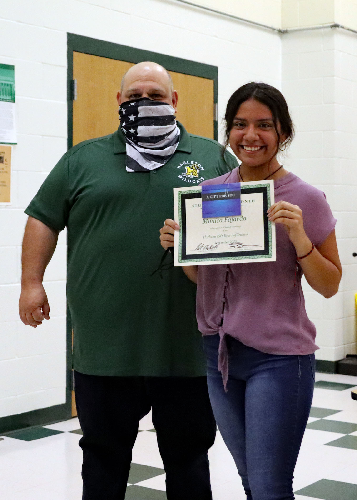 September Student of the Month Monica Fajardo