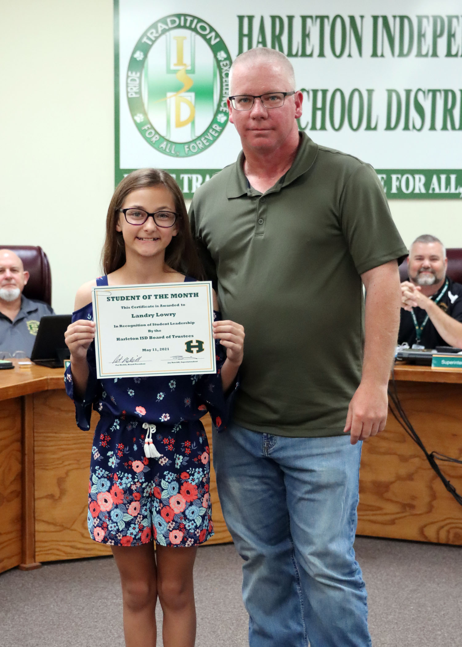 May Student of the Month Landree Lowry!