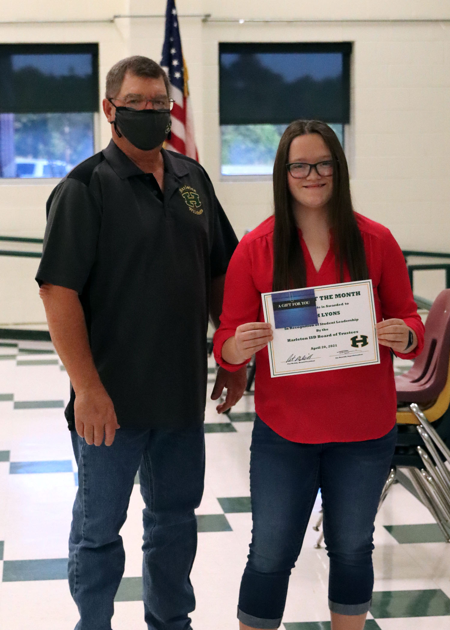 April Student of the Month Aleah Lyons!