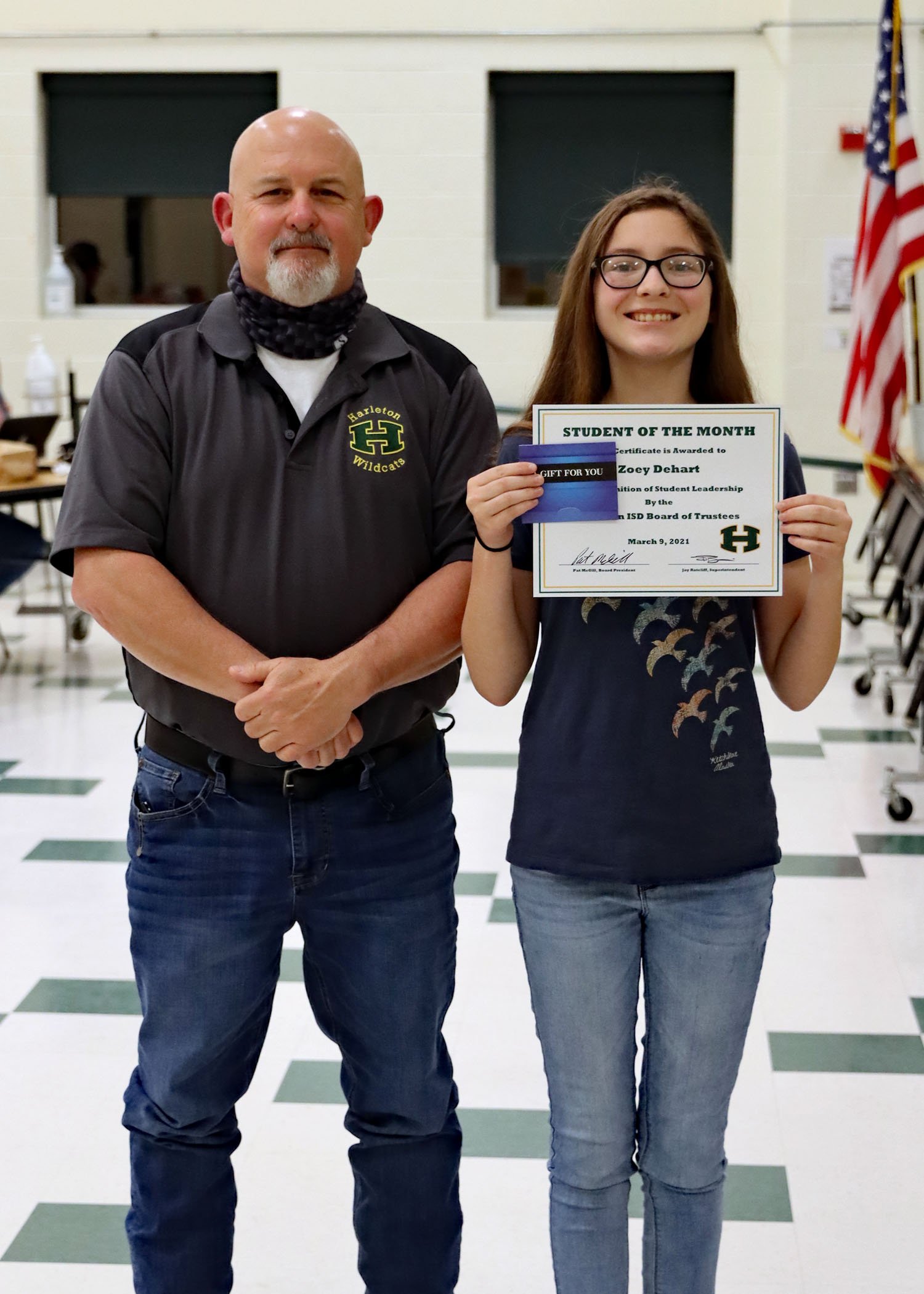 March Student of the Month Zoey Dehart!