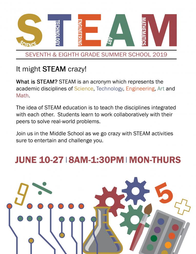 Steam Summer School Flyer