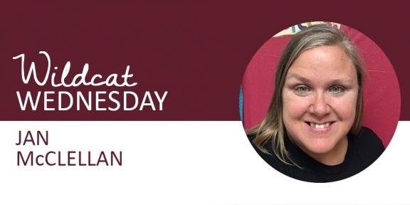 Jan McClellan Wildcat Wednesday banner