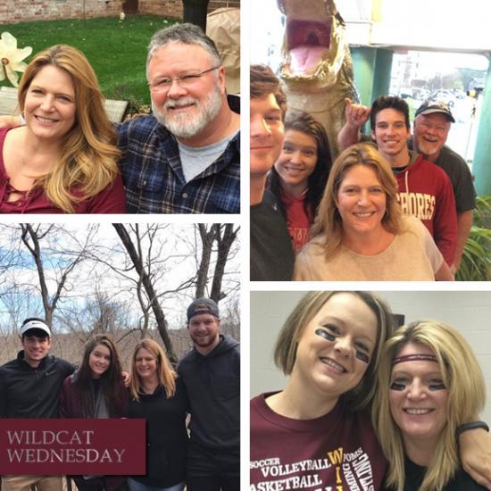 Shellie Lawson Wildcat Wednesday photo collage
