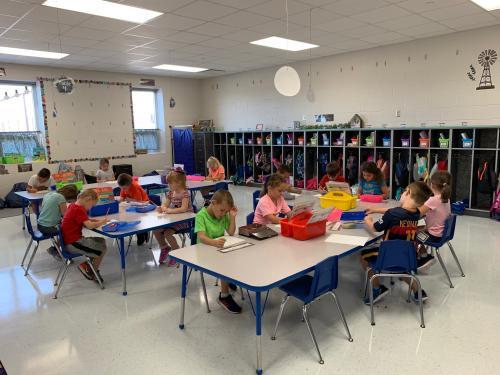 kdg grade classroom