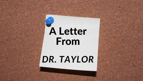 A letter from Dr. Taylor