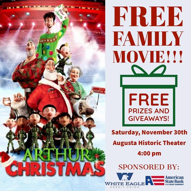 Free Family Movie - Nov 30 - Augusta Historic Theater