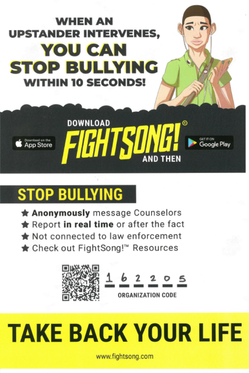 Fight Song! Bullying App Organization Code 162205