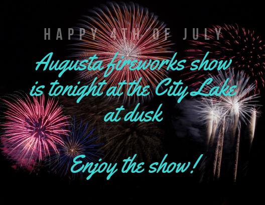 Augusta Firework Show