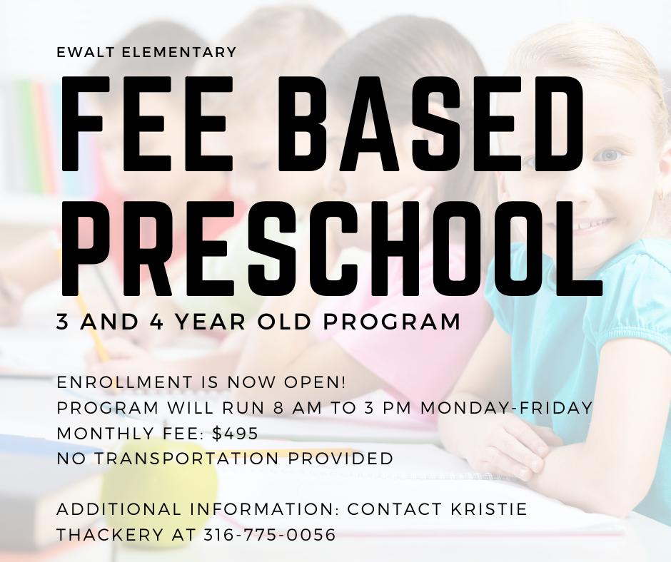 Fee Based Preschool Program