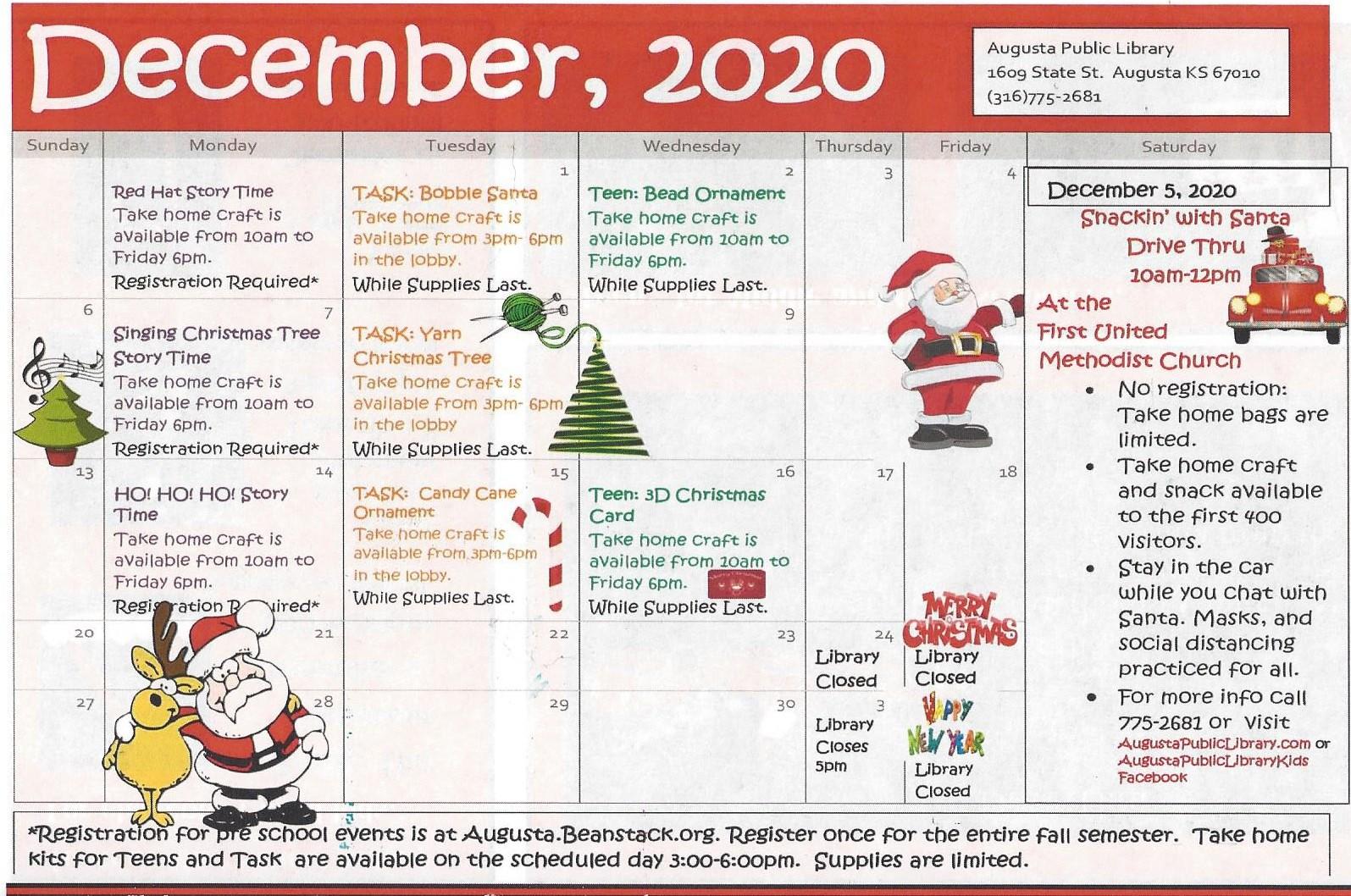 December Library Activities
