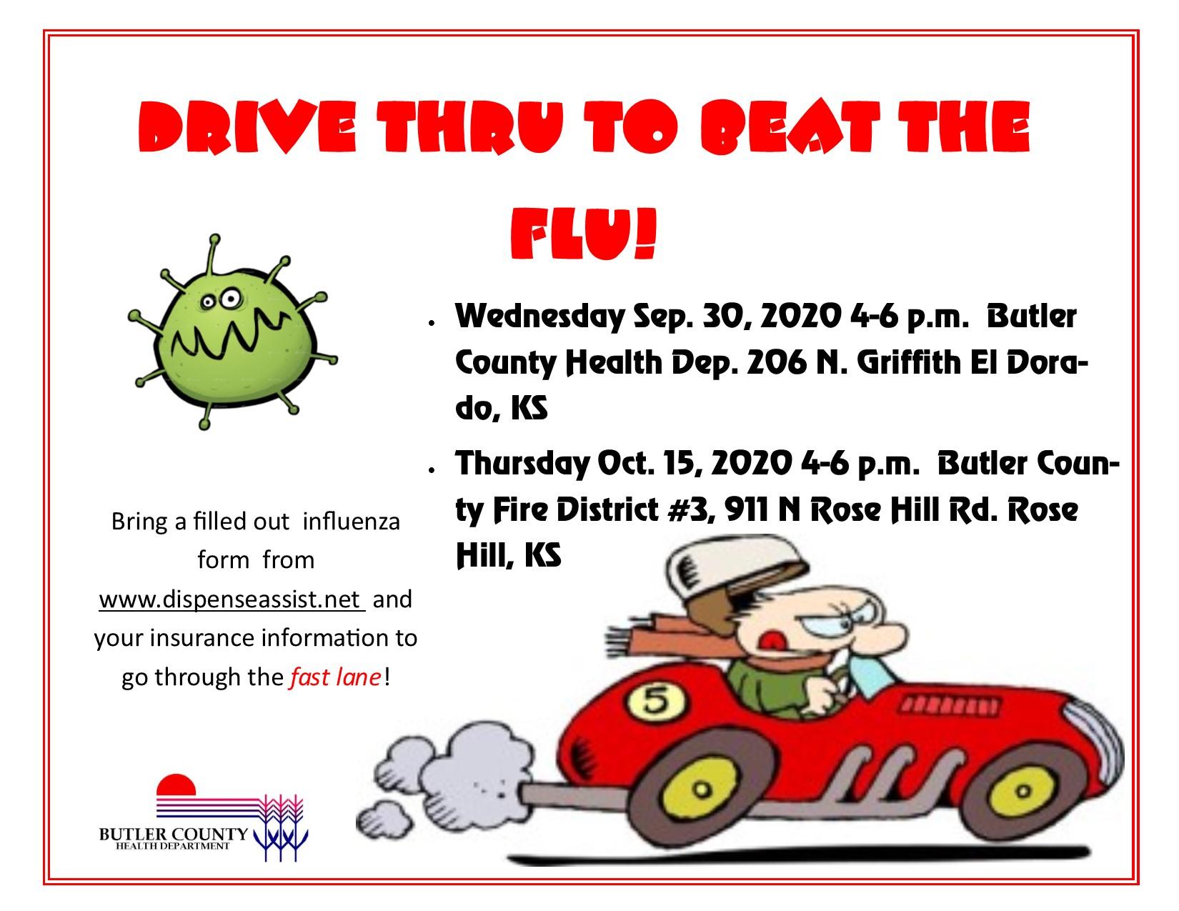 Drive thru to beat the flu