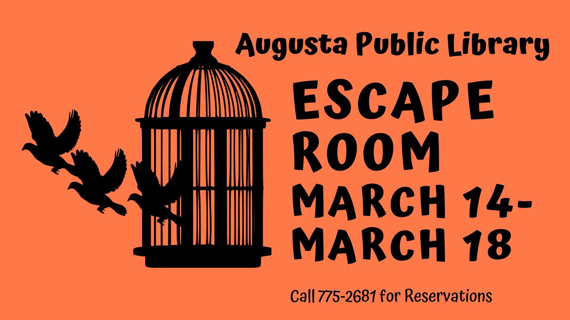 Escape Room - Augusta Public Library