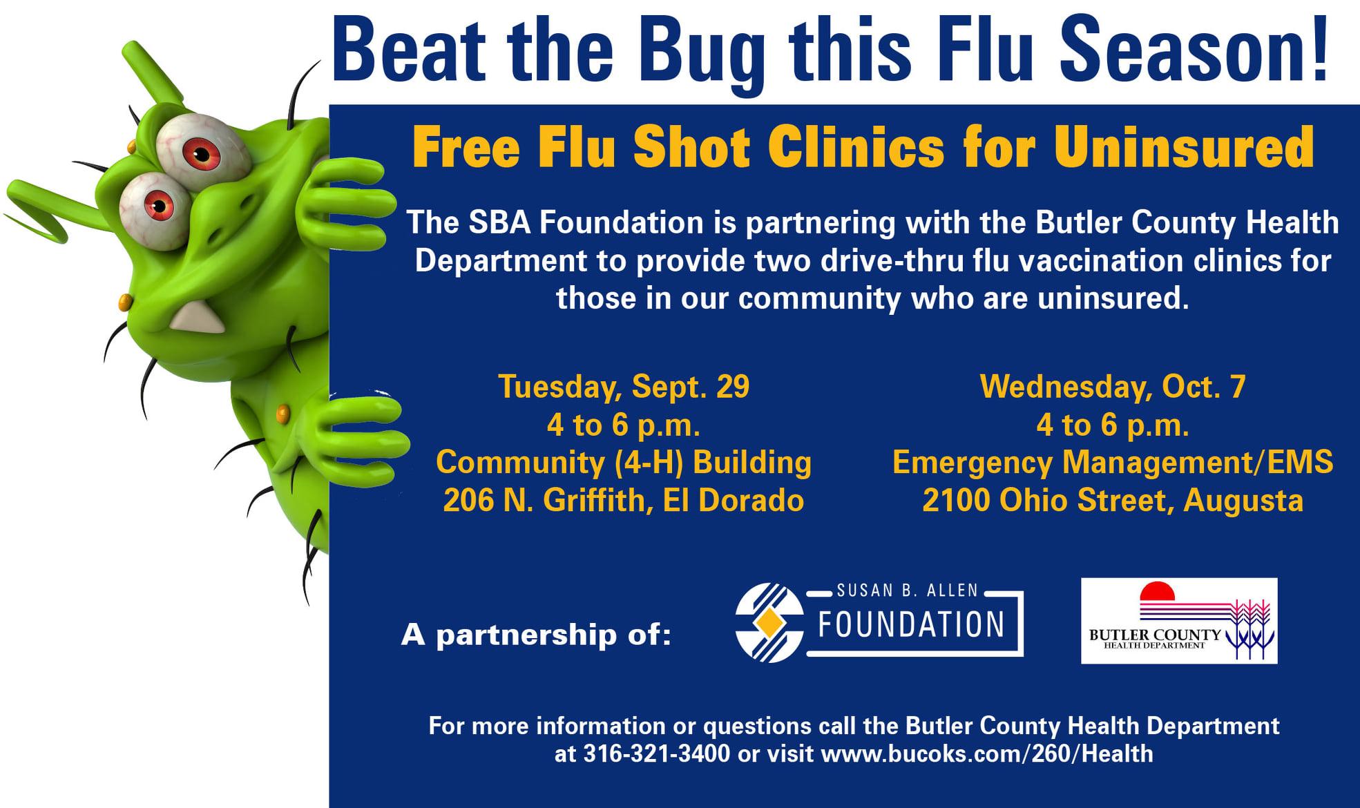 Free Flu Shot Clinics for Uninsured