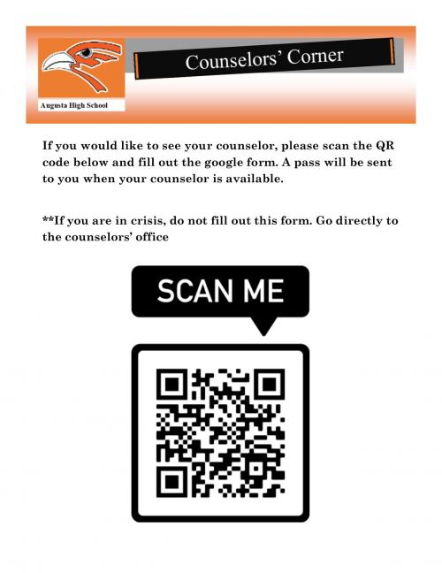 Request to see counselor QR code