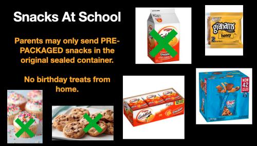 Snacks at School