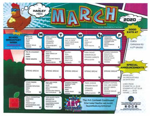 March Menu 2