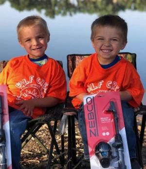 These are my grandsons. They love fishing and hunting with their daddy.