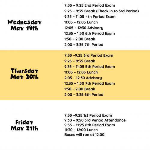 Spring Semester Schedule