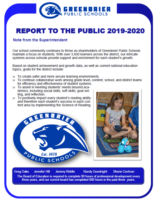 Report to the Public 2019-2020