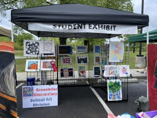 Greenbrier Student Artist Showcase at #GBArtJam