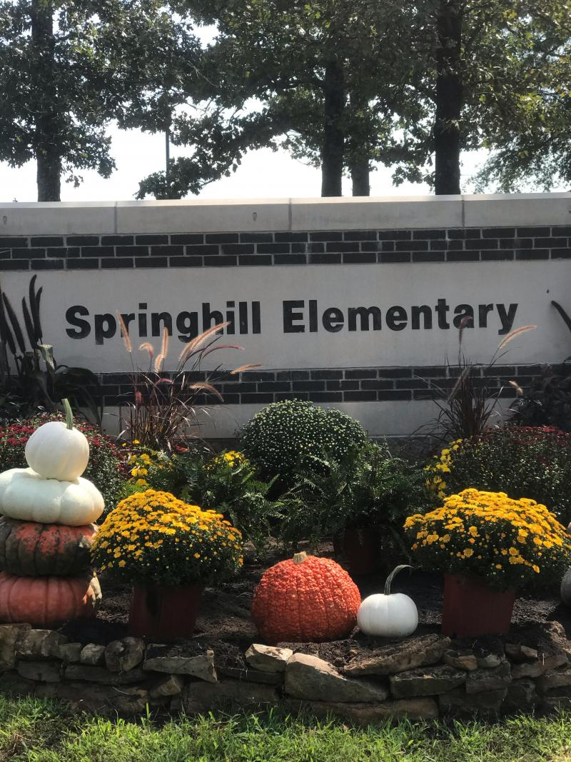 Springhill Sign is Spruced Up!