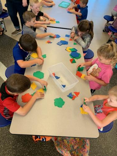 Kindergartners engaged in enrichment during PROWL