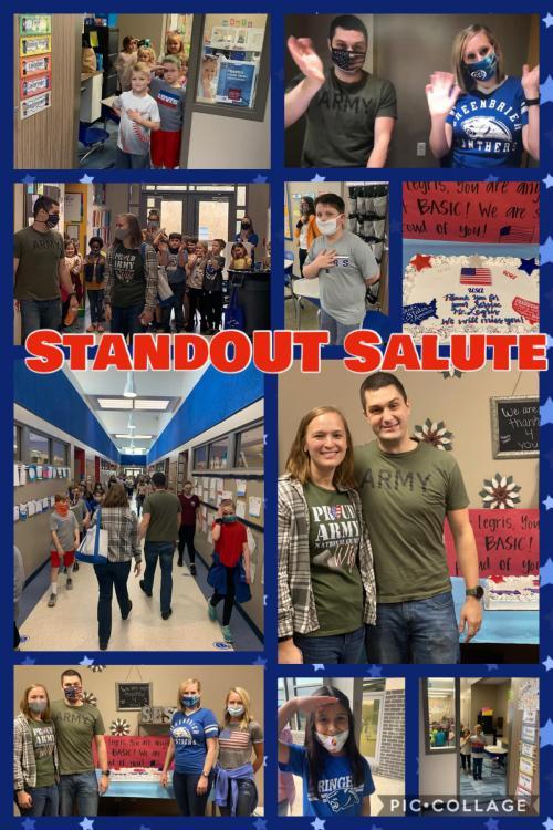 standout salute
