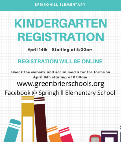 Kindergarten Registration Will Be Online