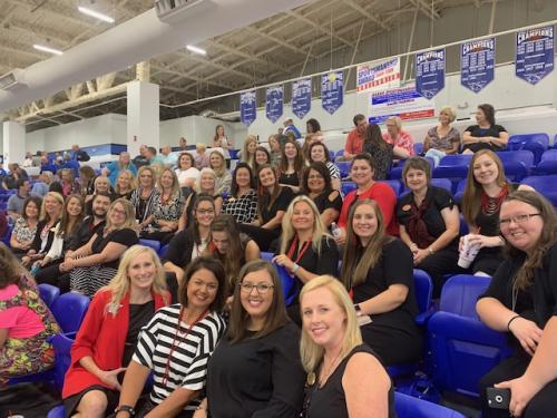 Teachers at the district welcome back breakfast