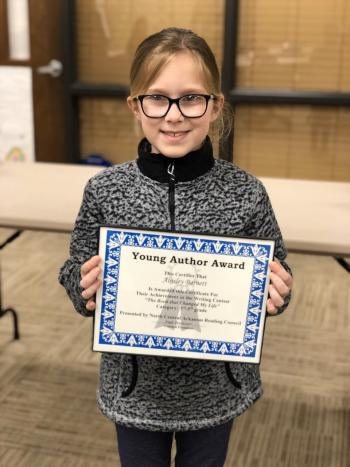 4th grade student honored