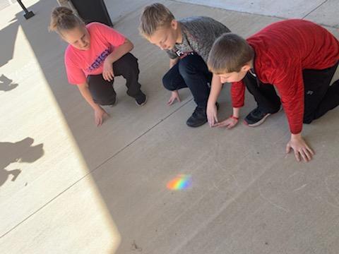 4th grade making rainbows