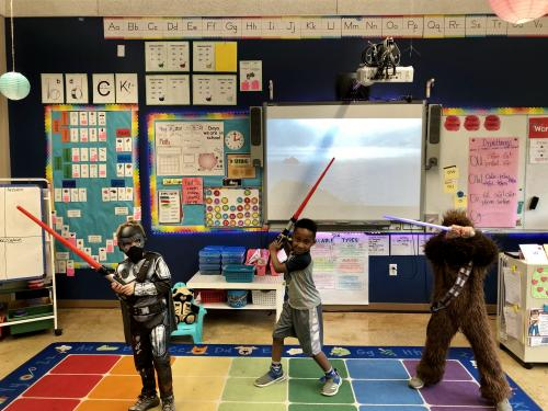 The Force is strong with Wooster 1st grade!