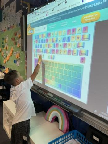 Keyboarding in 1st grade