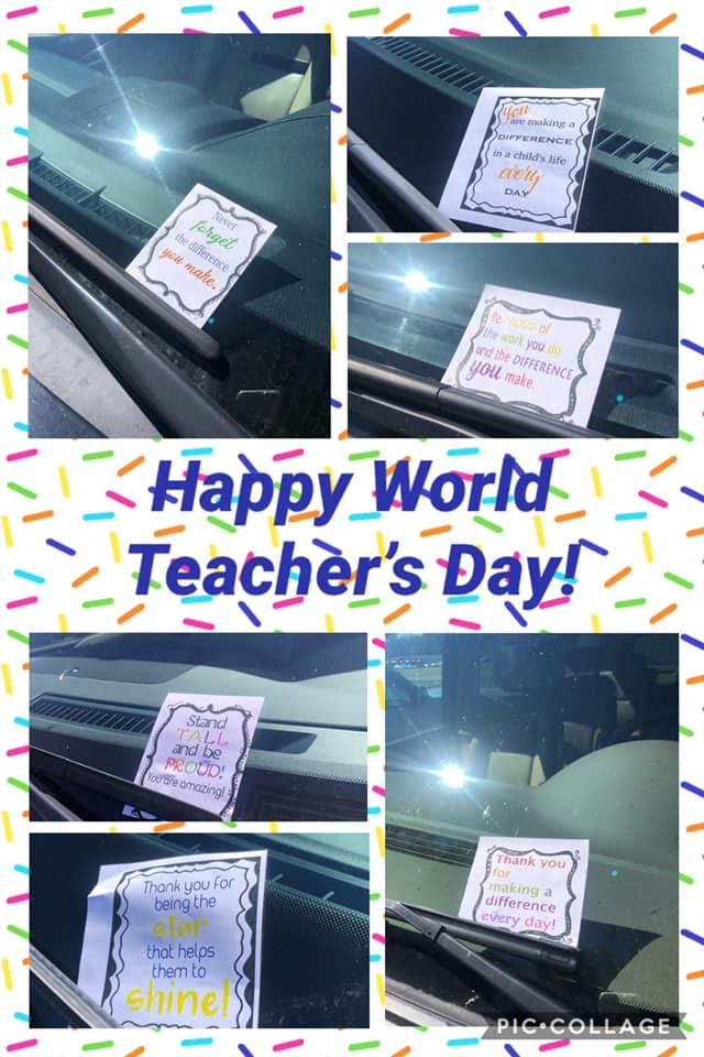 Today we had the opporunity to get to celebrate our teachers for WORLD TEACHER'S DAY!!