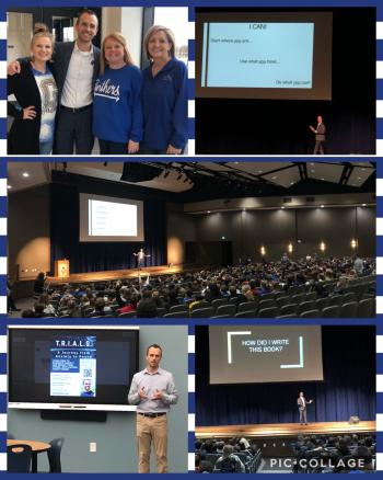 GMS enjoyed getting to listen to author, Chase Turner today!